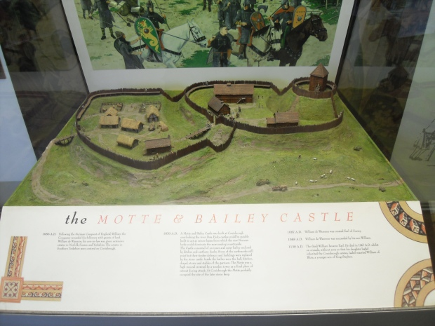 the MOTTE & BAILEY CASTLE